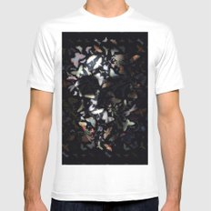 Butterfly And Skull Mens Fitted Tee White MEDIUM
