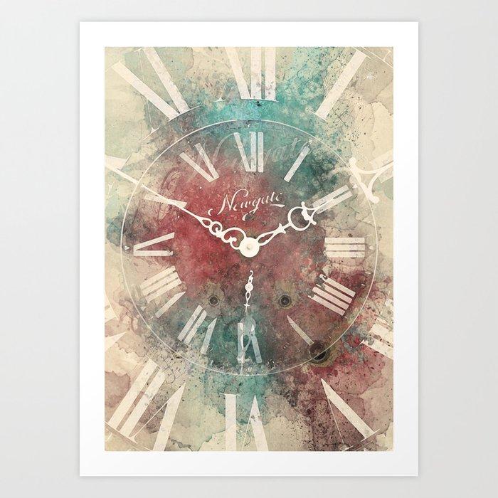 Old Clock Art Print