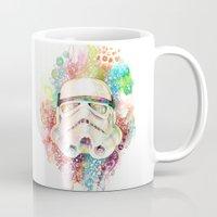 stormtrooper Mugs featuring Stormtrooper by Veronika Weroni Vajdová