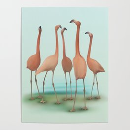 Flamingo Mingle Poster