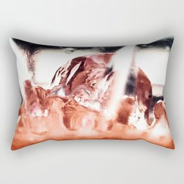 melting ice in a glass Rectangular Pillow