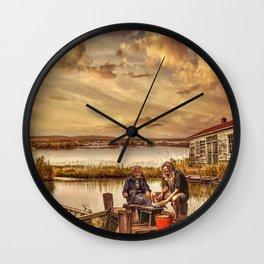 The Old Fishermen Wall Clock