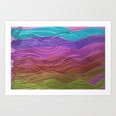 Metallic Colors Brush Strokes Art Print