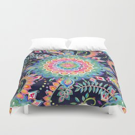 Color Celebration Mandala Duvet Cover