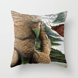 The Earth Golem Throw Pillow