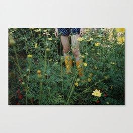 Green farmer Canvas Print
