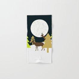 Deer on a hill Hand & Bath Towel