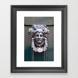 Door knocker Framed Art Print