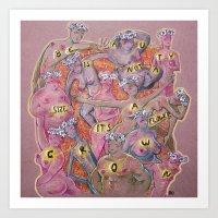 Flowercrown beauty Art Print
