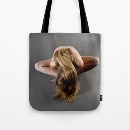 1784s-MS Seated Blond Woman Implied Nude Tote Bag