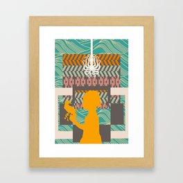 Fall into shape Framed Art Print
