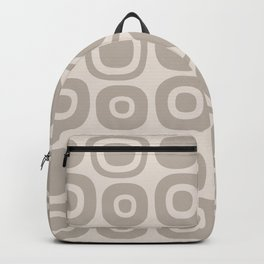 Mid Century Modern Garden Path Pattern 390 Beige Backpack