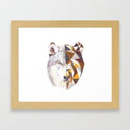 Geometric Wolf Framed Art Print