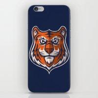shield iPhone & iPod Skins featuring Tiger Shield by WanderingBert / David Creighton-Pester