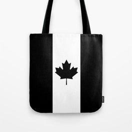 Canada: Black Military Flag Tote Bag