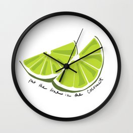 Lime in the Coconut Wall Clock