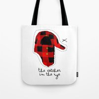 catcher in the rye Tote Bags featuring Catcher in the Rye by Marianna
