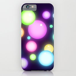 Magical Colorful Glowy Orbs iPhone Case