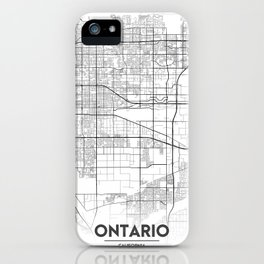 Minimal City Maps - Map Of Ontario, California, United States iPhone Case