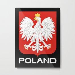 Polish Flag Metal Print