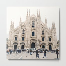 Italy Milan Photography Art Decor Wall Art Home Decor Square Prints Metal Print