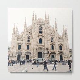 Italy Milan Photography Art Decor Wall Art Home Decor Square Prints Metal Print