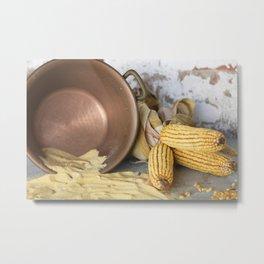 cob and pot with flour Metal Print
