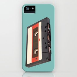 Cassette Tape Polygon Art iPhone Case