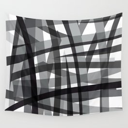 grey crossed stripes Wall Tapestry