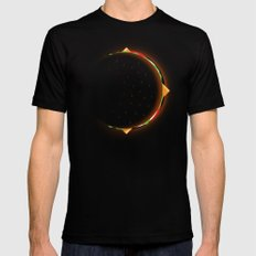 Burger Eclipse Mens Fitted Tee Black LARGE