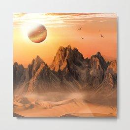 Golden Horizon Metal Print