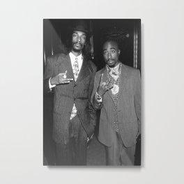 Snoop Dogg  Tupa-c Shakur Poster Print, Hip Hop Gangster Rap, Wall Art, Hip-Hop Rapper Metal Print