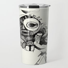 The Mad Hatter B&W Travel Mug