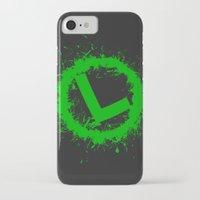 luigi iPhone & iPod Cases featuring Luigi Splat by Donkey Inferno