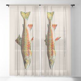 Brook Trout Sheer Curtain