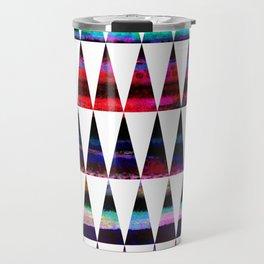 happy colored triangles Travel Mug