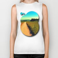 hiking Biker Tanks featuring Hiking on a hot afternoon by Patrick Jobst