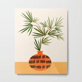 Solo Fan Palm / Contemporary Botanical Illustration Metal Print