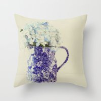 hydrangea Throw Pillows featuring Hydrangea by Beverly LeFevre