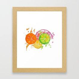 Citrus Burst! Framed Art Print