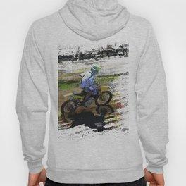 On His Tail - Motocross Sports Art Hoody