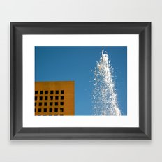 Fountain and Sky Framed Art Print