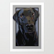Jeb Lab Dog Art Print