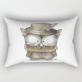 I'll show you a Hoot! - Angry Owl Illustration - Kawaii Rectangular Pillow