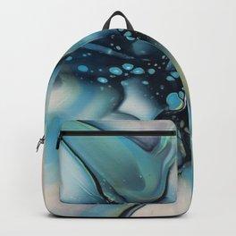 blue green starburst Backpack