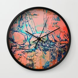 Apricity on high Wall Clock