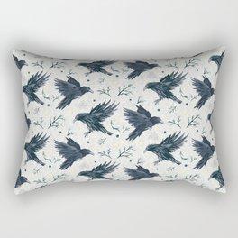 Odin's Ravens Pattern Print Rectangular Pillow