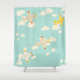Flying By Shower Curtain