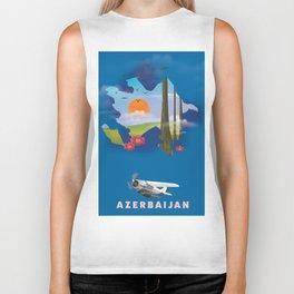 Azerbaijan illustrated travel poster Biker Tank