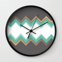 chic Wall Clocks featuring Chic by Katayoon Photography